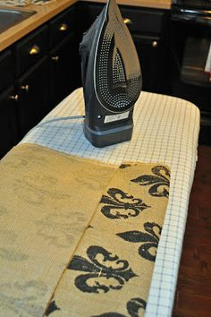 A Cup, A Cup: Burlap Curtains (No Sewing Required)