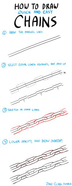 Así de fácil podara dibujar cadenas