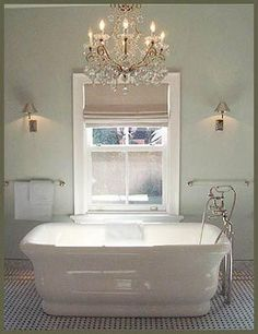 I've been planning our Master Bath remodel and it's not been as easy as I thought! For instance, I was absolutely certain thatI wanted a chandelier over the tub.I mean what could be better, especially if your tub is the focal point of your bathroom!? BHG But when we talked to the contractor we discovered …