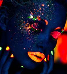 black light makeup - Google Search