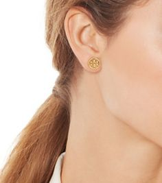 Tory Burch Logo Circle Stud Earring