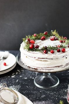 A delicious alternative of a festive favourite- Salted Caramel Gingerbread Cake With Orange Buttercream