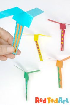 Paper Helicopter DIY - STEM for Kids - Red Ted Art - Make crafting with kids easy & fun Stem For Kids, Summer Crafts For Kids, Projects For Kids, Group Projects, Project Ideas, Paper Crafts For Kids, Diy Paper, Diy Crafts, Children Crafts