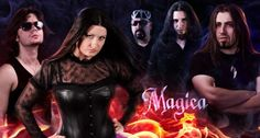Magica is a Romanian power metal band. Power Metal Bands, Heavy Metal Bands, Hard Rock, Symphonic Metal, Gothic Metal, Singers, Bliss, Wonder Woman, Superhero