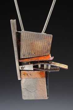 Jewelry / Sculpture / Architectrual Equivalents from Sterling Silver with Enamel enhancement.