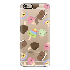 iPhone 6 Plus/6/5/5s/5c Case - Cute Ice Cream Pattern ($40) ❤ liked on Polyvore featuring accessories, tech accessories, phone cases, phone, cases, electronics, iphone case, print iphone case, apple iphone cases and iphone cover case