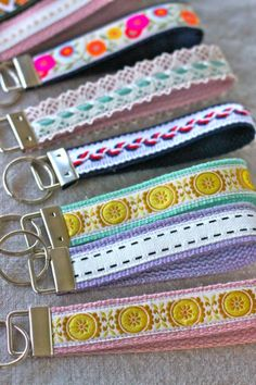 How to Make A Wristlet Key Fob – Could easily sub leather as the base layer lace as top. Same concept for bracelet.