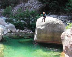 Canyoning, saut dans le canyon de Bavella Corsica, Rafting, Santa Giulia, Les Cascades, Travel, Zip Lining, Vaulting, Viajes, Destinations