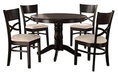 Homelegance Clancy Modern Classic 5Piece Dining Set Black *** Check this awesome product by going to the link at the image.Note:It is affiliate link to Amazon.
