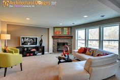 "House Plan 73329HS, ""Special Touches"" - traditional - basement - minneapolis - Architectural Designs"