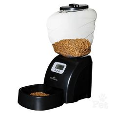 EYENIMAL Automatic Programmable Dog and Cat Feeder; Capacity up to of dry food >>> Check this awesome product by going to the link at the image. (This is an affiliate link) Automatic Cat Feeder, Puppy Diapers, Les Croquettes, Dog Feeder, Dog Food Storage, Dog Shower, Cat Feeding, Flea And Tick, Dog Accessories