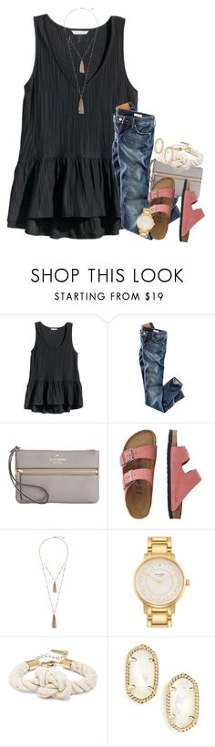 """""""•Don't go breaking my heart•"""" by katew4019 ❤ liked on Polyvore featuring H&M, Kate Spade, TravelSmith, Eloquii, Kendra Scott, women's clothing, women's fashion, women, female and woman"""
