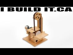 How To Make A Sander | Belt Sander / Disk Sander Combo - YouTube