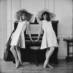 Catherine Deneuve and Françoise Dorléac in Les demoiselles de Rochefort directed by Jacques Demy, 1967. Photo by Reg Lancaster