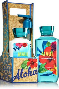 Maui Hibiscus Beach Lather & Lotion Gift Set - Signature Collection - Bath & Body Works