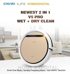 Smart Wet Robot Vacuum Cleaner