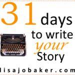 31 days Lisa-Jo Baker