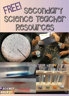 Free secondary science teacher resources from Science Rocks