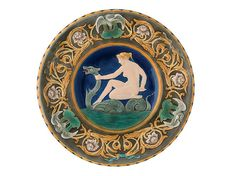 English Thomas Forester And Sons Majolica Dolphin And Putti Tazza Majolica Pinterest