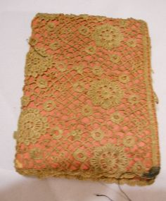 antique needle book with lace