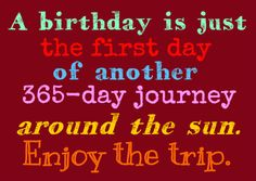 Kleurrijke verjaardagskaart met een prachtige spreuk.