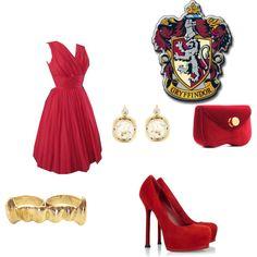 Gryffindor Ball Dress, created by ellastark on Polyvore