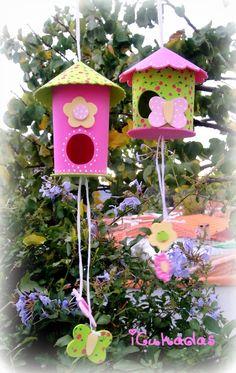 TUTORIAL/DIY : Casitas de pájaros decorativas   Manualidades