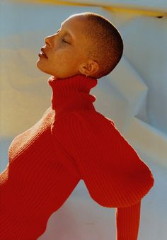 Adwoa wears rollneck Dior. Earrings (worn throughout) model's own. Photography Harley Weir i-D