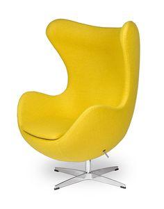 EGG Sessel in Gelb/ Yellow EGG Chair by Arne Jacobsen in Möbel & Wohnen, Möbel, Sofas & Sessel   eBay!