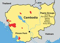 Pray / Pear, Eastern of Cambodia map