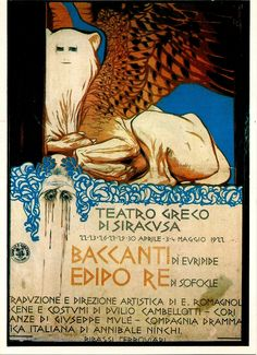 poster for Greek play - Baccante -  Siracusa