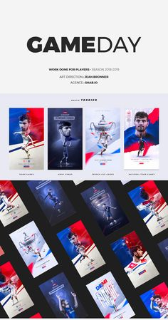 Work done for Shab.IO agency with their players during the season. Sports Graphic Design, Freelance Graphic Design, Graphic Design Posters, Graphic Design Inspiration, Sport Design, Social Media Poster, Social Media Design, Sports Magazine Covers, Game Ui Design