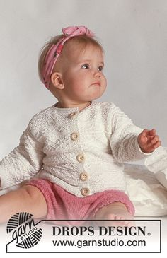 Baby Knitting Patterns, Baby Cardigan Knitting Pattern Free, Knitting For Kids, Baby Patterns, Free Knitting, Crochet Patterns, Designer Baby, Knit Baby Sweaters, Knitted Baby Clothes