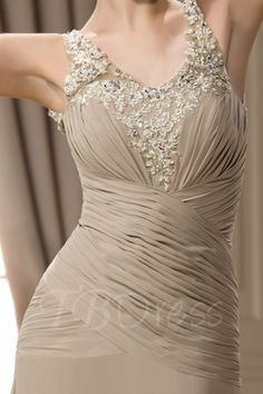 Sheath/Column Pleated Applique Beading Lace Floor-length V-Neck Mother of the Bride Dress