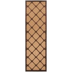 "Meticulously Woven Patti Transitional Geometric Indoor/ Outdoor Area Rug (2'6 x 7'10) (Brown-(2'6"" x 7'10"")), Brown, Size 2' x 7'"