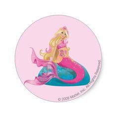 Barbie Mermaid 1 Round Sticker