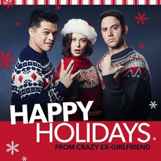 Give the gift of Crazy Ex-Girlfriend this holiday season and turn your friends… Christmas Tv Shows, Christmas Pops, Christmas Movies, Best Series, Tv Series, Crazy Ex Gf, Rebecca Bunch, Free Full Episodes, Drunk History
