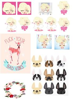 Stikers Marily monroe and more di TheSilvy su Etsy