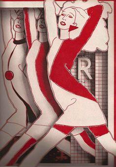 """Antonio Lopez (1943-1987) aka """"Antonio"""", ca. 1960s, Fashion Illustration Montage."""