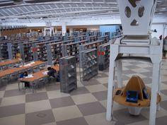 Biblioteca de la universidad Pablo de Olavide, Sevilla, Andalucía