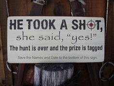 Wedding date He took a shot she said yes personalized save the date sign on Etsy, $50.00 CAD