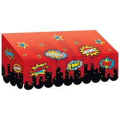 Give your classroom a glamorous makeover with these fancy awnings. Mix and match your favorite patterns and colors to create the perfect themed classroom. Hang these sturdy awnings over your bulletin