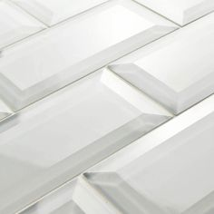 New product alert! Our new Tessera Beveled Ice White is a versatile subway tile…