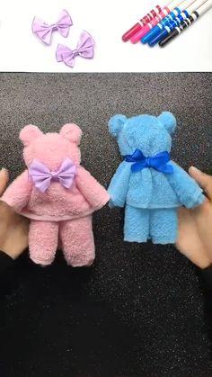 Diy Crafts For Girls, Diy Crafts To Do, Diy Crafts Hacks, Cute Crafts, Diy For Kids, Easy Crafts, Paper Crafts, Diys, Towel Crafts