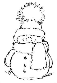 coloring snowman drawing seniors easy dementia