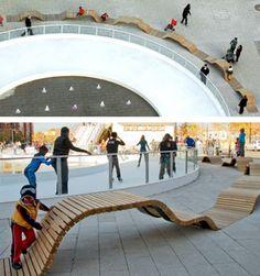 Super Ideas For Public Seating Spaces Architecture Urban Furniture, Street Furniture, Furniture Design, Plans Architecture, Landscape Architecture, Architecture Diagrams, Architecture Portfolio, Urban Landscape, Landscape Design