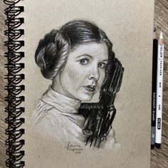Carrie Fisher as Princess Leia fanart by Laura Filipovics  #starwars