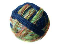 Tangy Self-Striping Sock Yarn in Loch Ness