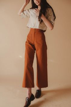 Lykke Wullf Sandy Pant in Canvas