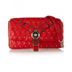 60% off Versace - Shoulder Bag Studded Quilted Leather Red - $860